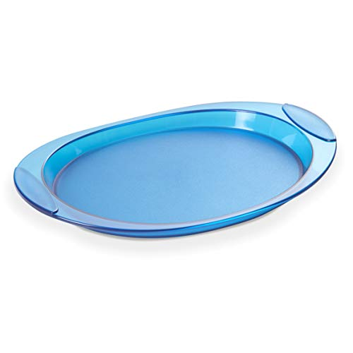 Omada Design Tablett aus farbigen Kunststoff, kratzfest innerhalb. Tablett für die Getränke, 52 x 35,5 cm, ideal für Tasse oder Gläser. Made in Italy, Linea Happy Drink, Türkise Farben