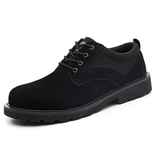 Calzado de protección Zapatos de seguridad de punta de punta de acero ligeros, zapatos de seguridad de mediana edad para hombres, entrenadores de seguridad para mujeres zapatos de tope de punta de ace