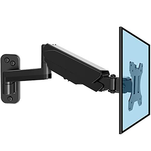 HUANUO 13-32 Zoll Monitor Wandhalterung mit VESA-Erweiterungssatz für LED LCD TV, Bildschirm, 360° Drehbar Gasdruckfeder Arm, VESA 75/100/200