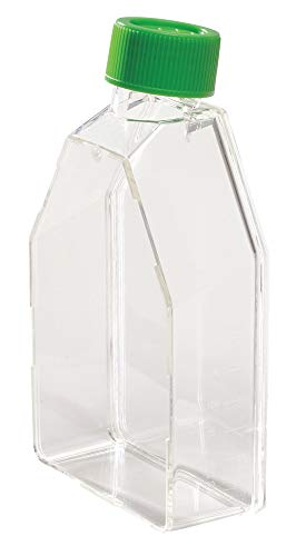Celltreat 229340 Tissue Culture Treated Flask, Plug Seal Cap, Sterile, 50mL Capacity, 75cm2 Size (Case of 100)