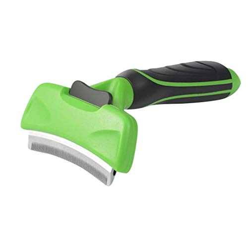 SILII Pets Dog & Cat Brush for Shedding, Best Long & Short Hair Pet Grooming Tool, Reduces Dogs and Cats Shedding Hair by More Than 90%, Professional Deshedding Tool (Green)