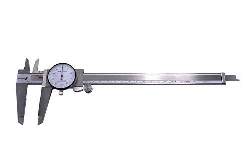 PAULIMOT Messschieber mit Uhr 0-200 mm INOX