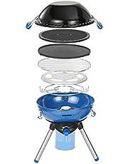 Campingaz Party grill, kleine grill voor camping, festivals of picknick, campinggrill met flexibele kookmogelijkheden, gasfornuis met antiaanbaklaag en pannenhouder