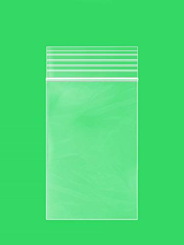 GPI Clear Plastic Reclosable Zip Lock Poly Bags, Case of 1000, 2-mil Thick, 2 Inch x 3 Inch, For Travel, Storage, Shipping