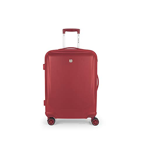 Gabol - Vermont | Maletas de Viaje Medianas Rigidas de 48 x 68 x 25 cm con Capacidad para 62 L de Color Rojo