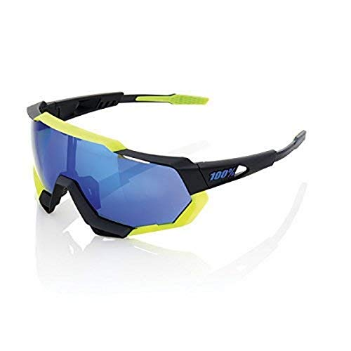 Inconnu 100% Speedtrap–Gafas de Sol Unisex, Color Negro/Amarillo
