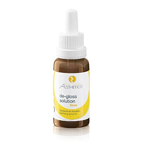 AESTHETICO de-gloss solution - Mattierendes Serum bei Akne oder fettiger Haut, mit Pflanzenextrakten gegen Unreinheiten, 20 ml