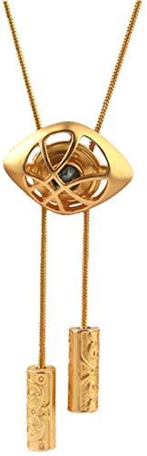 JIUJIN Bolo Tie Doctor Strange Eye Of Agamotto Model Necktie Metal Bolos Slide Chain Necklace