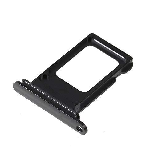 jbTec Dual SIM-Tray/Halter passend für Apple iPhone XS Max - Slot Karte Schlitten Rahmen Holder Handy Card Ersatz Fach, Farbe:Dunkelgrau