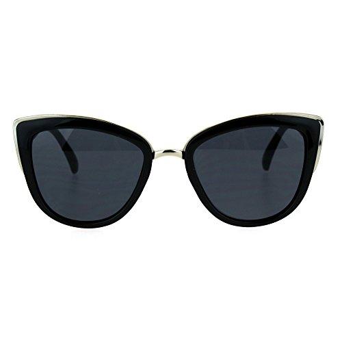 SA106Runway Fashion Metal puente borde grande ojo de gato gafas de sol