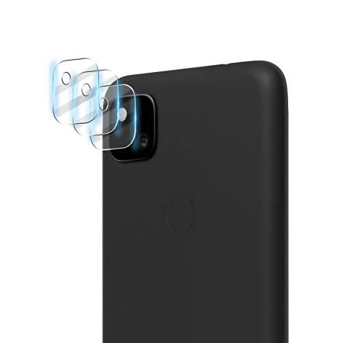 Aerku Fotocamera Posteriore Pellicola Vetro Temperato per Google Pixel 4A, [Piena Copertura Vetro Flessibile] HD Camera Pellicola Protettiva Trasparenza Screen Protector Film[3 Pezzi]