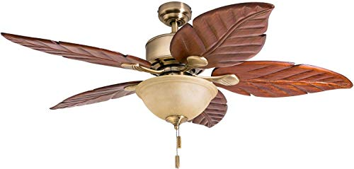 Honeywell Ceiling Fans 50500-01 Sabal Palm 52' Ceiling Fan, Aged...