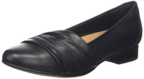 Clarks Damen Mokassin, Schwarz (Black Leather Black Leather), 39 EU
