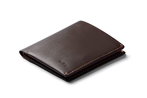 Bellroy Note Sleeve, Portafoglio sottile in pelle, edizioni RFID disponibili (Max. 11 carte, banconote e monete) - Java Caramel - RFID