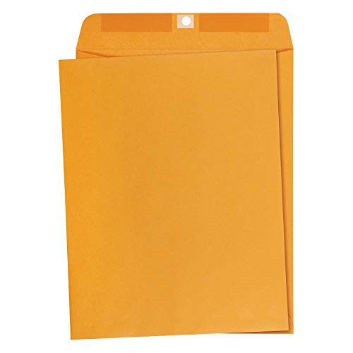 AmazonBasics 10 x 13-Inch Clasp Kraft Envelopes, Gummed, 100-Pack