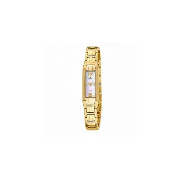 Reloj de señora de acero de línea blanca F16215 / 3 correa de oro FESTINA