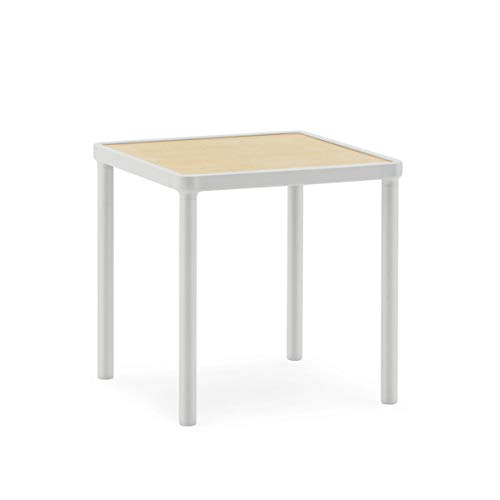 Normann Copenhagen Case Table Basse, Aluminium, Gris Clair, 40,3x40x40cm