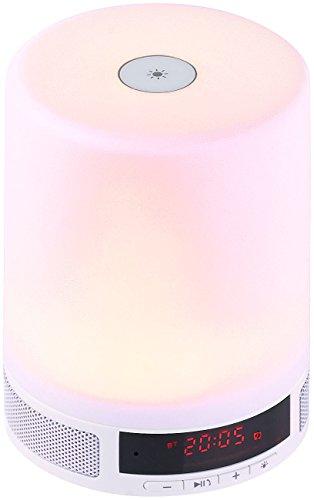 Lunartec Wecklicht: Lautsprecher m. Bluetooth & LED-Tischleuchte,Sonnenaufgangs-Simulation (Wecker Sonnenaufgang)