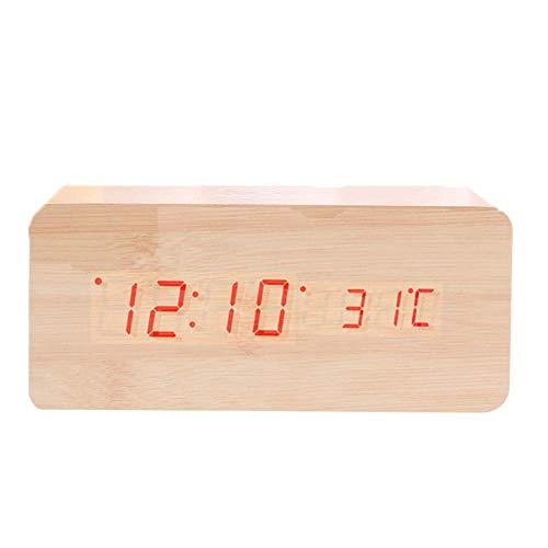 ZXLRH Relojes De Pared, Estación Meteorológica Termómetro Digital para Interiores con Temperatura...