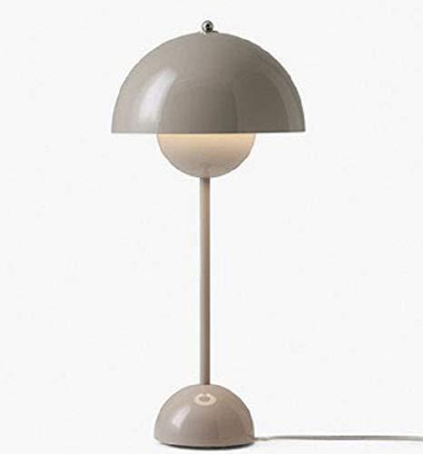 OUYA Flower Bud Lámpara de Mesa Artística Moderna LED Luz cálida Lámparas de Mesa de Noche para Dormitorio Sala de Estar Escritura Lectura Café Bar - Bombilla E27,Gris,Warm Light