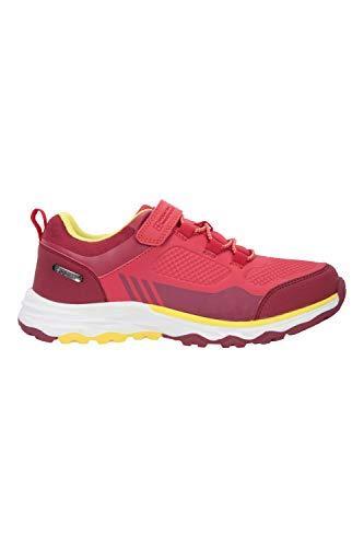 Mountain Warehouse Wilderness Kids Waterproof Walking Shoes - EVA Cushioned Sports Shoe, Mesh Lining Girls & Boys Footwear - Best for Sports, Hiking, Outdoors & Trekking Berry Kids Shoe Size 12 UK
