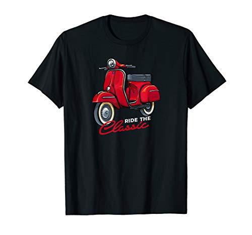 Roller Scooter Mopedfahrer Moped Vintage Love Retro Italien T-Shirt