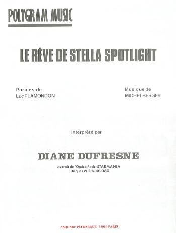 LE RÊVE DE STELLA SPOTLIGHT (partition)