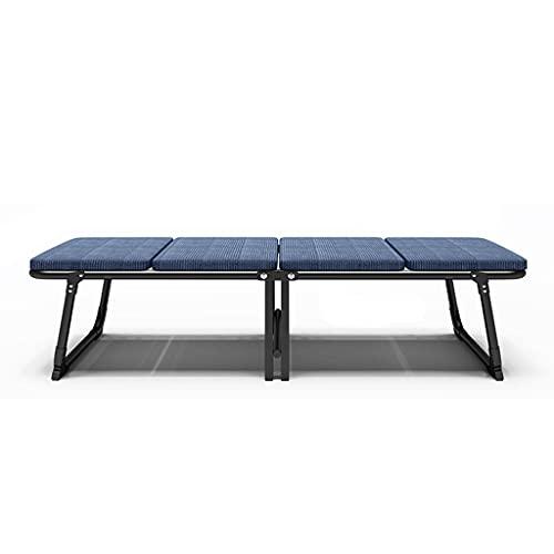 LZL Universal Roller Hochleistungs-Klappbett, 300 lbs max Gewichtskapazität, Gästebett mit 3D-Stretch-Strickmaterial-Matratze (Color : Blue)
