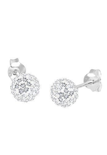 Elli Ohrringe Damen Kugel Stecker mit Swarovski® Kristalle in 925 Sterling Silber