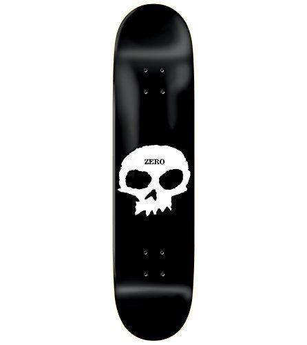 Zero Single Skull Skateboard Deck - 8.25