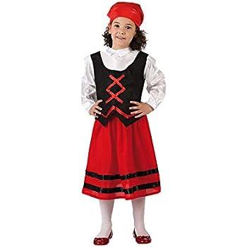 Atosa-32145 Disfraz Pastora Niña Infantil-T, Color Rojo, 7 a 9 ...