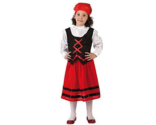 Atosa-32145 Disfraz Pastora Niña Infantil - T, Color Rojo, 7 a 9 años (32145)