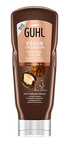 Guhl Braun Faszination Balsam-Spülung/Conditioner - Mit Kukuinuss-Öl - Für Natürlich Braunes Und Coloriertes Haar, 200 Ml
