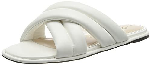 Buffalo Damen ROELLE Flache Sandale, White, 39 EU