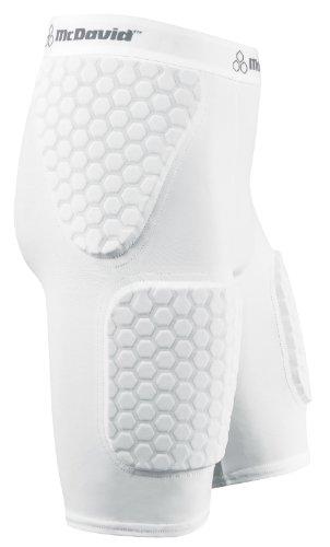 McDavid Herren HexPad Handball-/Basketball-Hose 737 THUDD, white, XXL