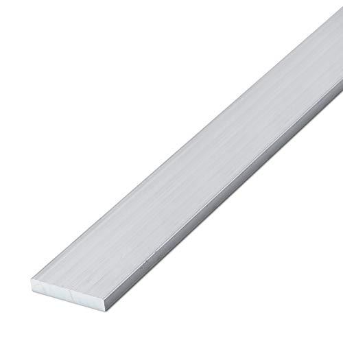thyssenkrupp Aluminium Flachprofil Alu Flachstange Flachmaterial | EN AW-6060 in 15 x 2 mm | Länge: 2450 mm