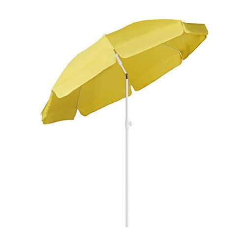Sekey® Sonnenschirm 200 cm Marktschirm Gartenschirm Terrassenschirm Ingwer Rund Sonnenschutz UV25+