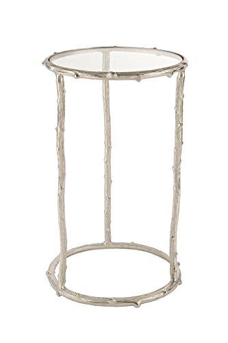 BIZZOTTO Karan Beistelltisch c-vt, Metall, Grau, 41x 41x 66cm