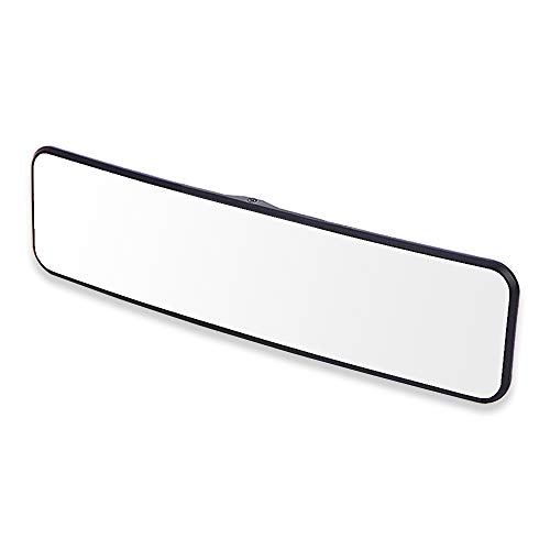 SkycropHD Car Rear View Mirror, Clip on Interior Rearview Mirror Wide Angle to Eliminate Blind Spots – Convex, White