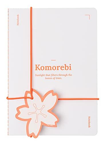 Kokonote Miss Haiku Orange notatnik w kropki A5 i notatnik w linie A5 - zeszyt DIN A5