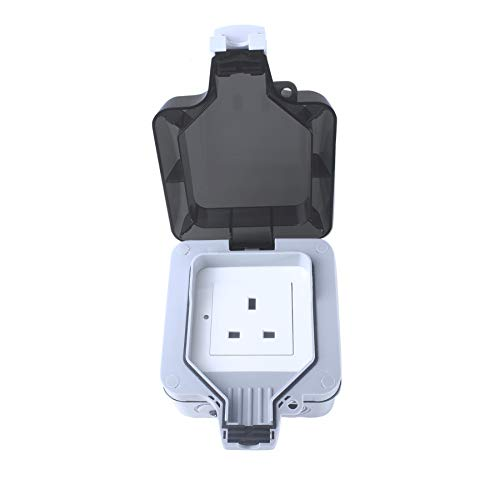 Woox Smart Plug Outdoor Socket Remote Control Weatherproof IP66 WLAN Socket 13A Compatible with Alexa, Echo, Google Assistant and IFTTT, Timer Function, No Hub Required