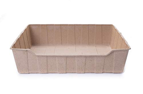 ZenKitty Biodegradable Litter Box 4 ct Bundle, Natural