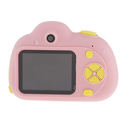 perfeclan Fotocamera Digitale Bambini,Digital Camera Kids Videocamera Doppia Fotocamera 800w/ / LCD da 2 Pollici / con Scheda SD Espandibile Fino A 32 GB - Rosado