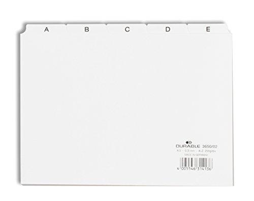 Durable 365002 Leitregister A - Z (A5 quer) 1 Stück weiß