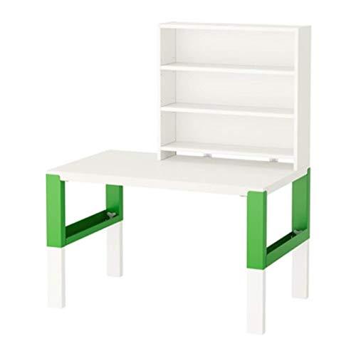 Ikea Pahl skrivbord med tilläggsenhet vit grön 791.289.77 storlek 91.289.77 storlek 99 cm