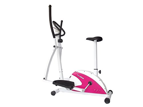 Fitness House Dual Fh, Ellittica e Cyclette 2 in 1 Unisex Adult, Bianco, Standard
