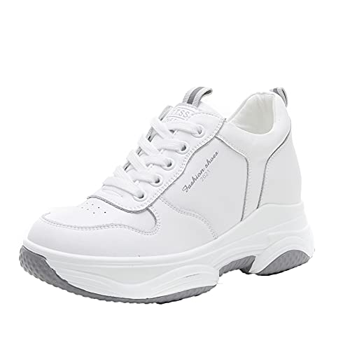 Zapatos Creepers con Cordones para Mujer, Ropa de Calle, Zapatillas Informales para Caminar en Primavera y otoño, Zapatos de Plataforma cómodos y cómodos para Vestir