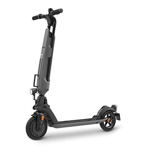 Inomile patentierte Sicherheitsstruktur Elektroroller 300 W, Last 120 kg, Faltbarer E-Scooter mit Deutscher Straßenzulassung (ABE) aus Luftfahrtaluminium (Grey)