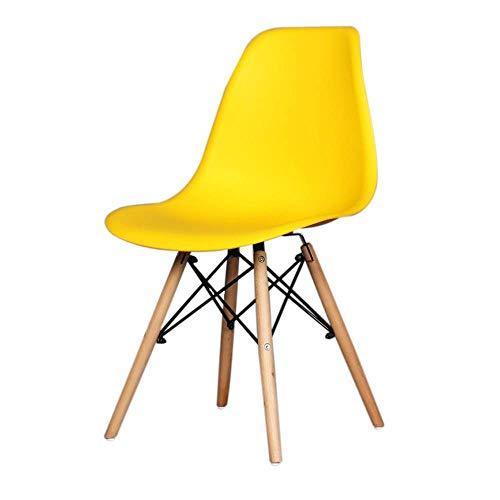 YLCJ HYX001, eetkamerstoel, loungestoel voor computers, bureaustoel, zakelijke stoel, kantoor thuis, minimalistische Scandinavische stijl, stoel met rugleuning van kunststof (geel) Geel