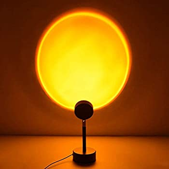 Sunset Projection Lamp Red Halo Rainbow Eternal Sun Light Romantic Gift Party Bedrooms Living Room Floor Decor Lamps